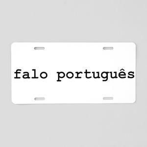 I Speak Portuguese Aluminum License Plate