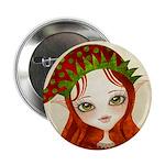 """Jollybelle Christmas Elf 2.25"""" Button"""
