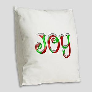 Christmas Joy Burlap Throw Pillow