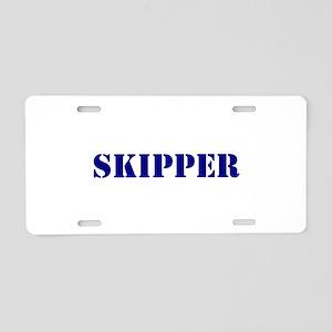 Skipper Aluminum License Plate
