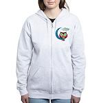 My Crescent Owl Women's Zip Hoodie LOOK BACK!