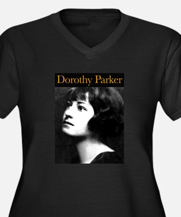 Dorothy Parker Women's Plus Size V-Neck Dark T-Shi