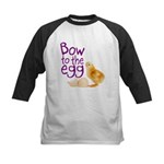 Bow to the Egg Kids Baseball Jersey