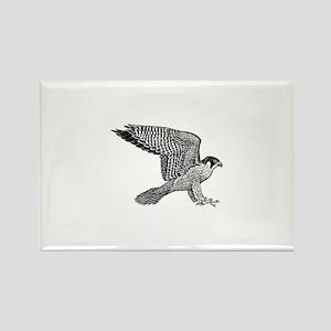falcon (black) Rectangle Magnet