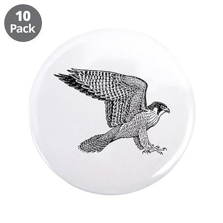 """falcon (black) 3.5"""" Button (10 pack)"""