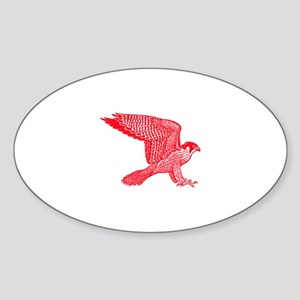 falcon (red) Sticker (Oval)