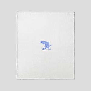 falcon (blue) Throw Blanket