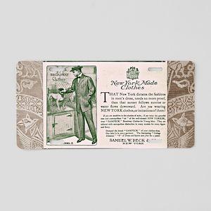 Vintage Samuel W. Peck & Co ad Aluminum License Pl