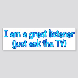 Great TV Listener Sticker (Bumper)