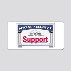 Social Security Aluminum License Plate