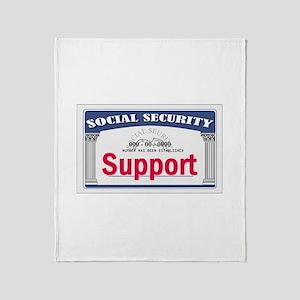 Social Security Throw Blanket