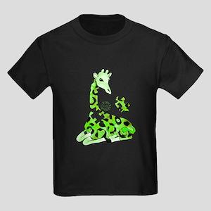 GIRAFFE FOR AUTISM Kids Dark T-Shirt
