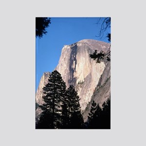 Half Dome Over Trees Rectangle Magnet