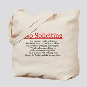 No Soliciting Tote Bag