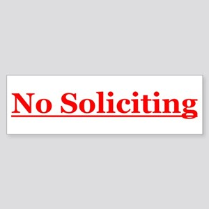 No Soliciting Sticker (Bumper)