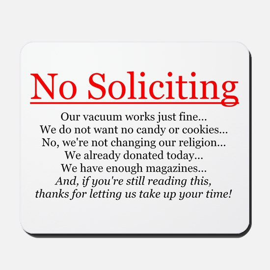 No Soliciting Mousepad
