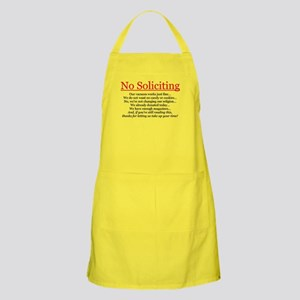 No Soliciting Apron