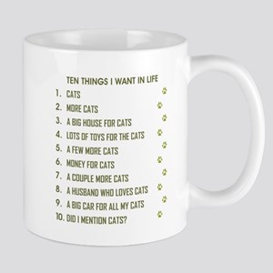 TEN THINGS I WANT... Mugs
