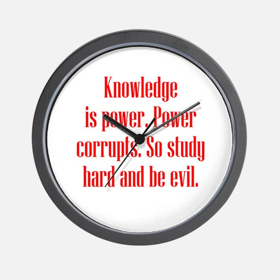 Knowledge and Evil Wall Clock