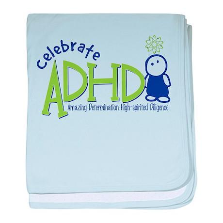 Celebrate ADHD baby blanket