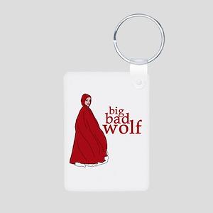 Red Riding Hood Big Bad Wolf Aluminum Photo Keycha