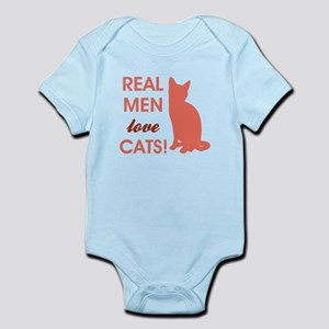 REAL MEN LOVE CATS! Body Suit