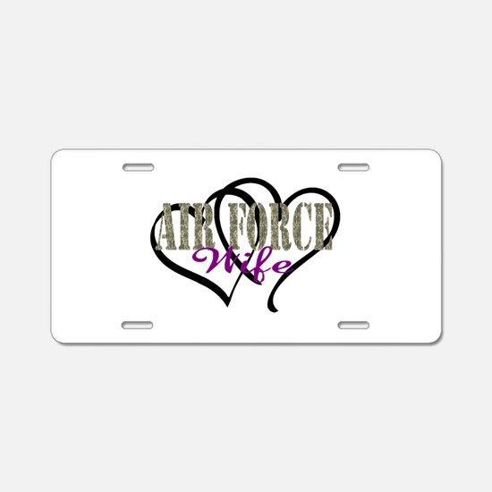 Air Force Wife Aluminum License Plate