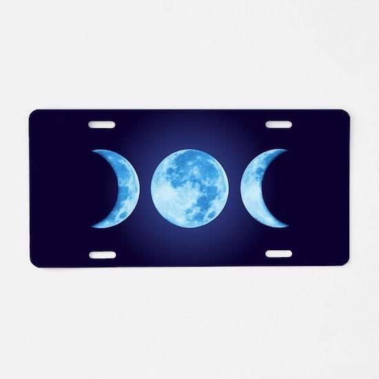 Three Phase Moon Aluminum License Plate