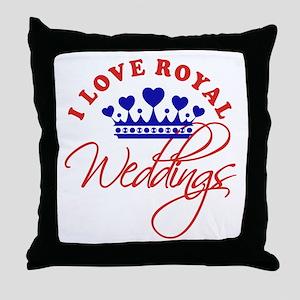 I Love Royal Weddings Throw Pillow