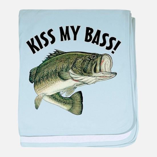 Kiss My Bass baby blanket