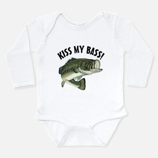 Kiss My Bass Long Sleeve Infant Bodysuit