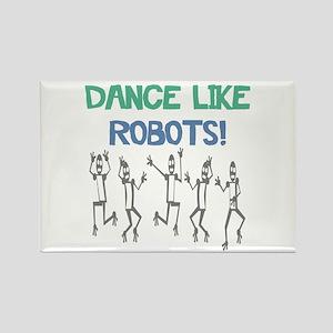 Robot Dance Rectangle Magnet