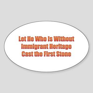 Immigrant Heritage Oval Sticker