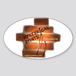 Hysterical Events Sticker (Oval)