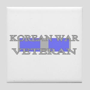 Korean Service Ribbon Tile Coaster