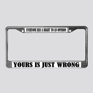 Funny Attitude License Frame