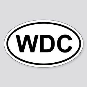 WDC Washington DC Sticker (Oval)