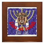 Lion of Judah 7 Framed Tile