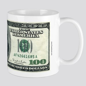 100 Dollar Bill 11 Oz Money Mug Mugs