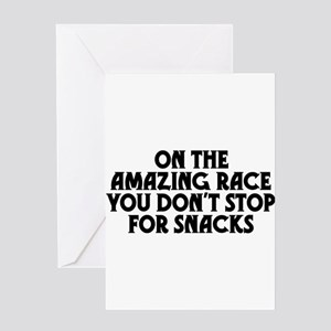 Amazing Race Snacks Greeting Card
