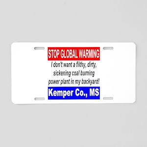 Stop Global Warming Kemper Co. MS Aluminum License