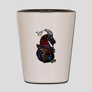 Capricorn Zodiac Seagoat Art Shot Glass