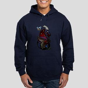 Capricorn Zodiac Seagoat Art Hoodie (dark)