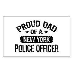 Proud Dad of a New York Police Officer Decal