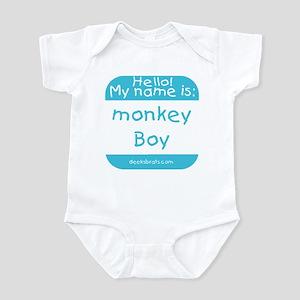 Hello my name is MONKEY BOY Infant Creeper