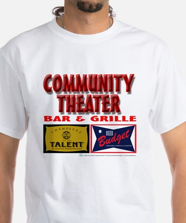 Community Theater Bar and Grille White T-Shirt