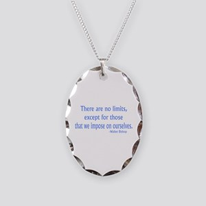 Fringe Walter Quote - No Limits Necklace Oval Char