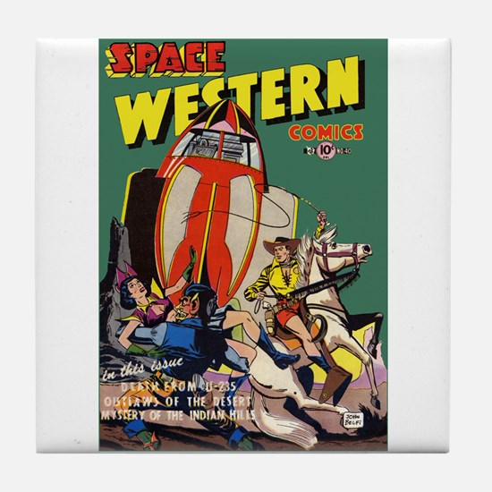 $9.99 Space Western Tile Coaster