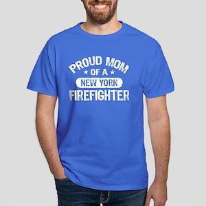 Proud Mom of a New York Firefighter Dark T-Shirt