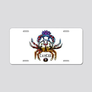 Cancer Crab Zodiac Art Aluminum License Plate